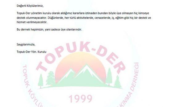 Topuk-Der Yönetim Kurulu Duyurusu 09.11.2017